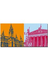 ART-DOMINO® BY SABINE WELZ Wien - Rathaus + Parlament