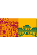 ART-DOMINO® BY SABINE WELZ Wien - Hundertwasserhaus + Neues Belvedere