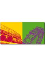 ART-DOMINO® BY SABINE WELZ Wien - Ernst-Happel-Stadion + Riesenrad