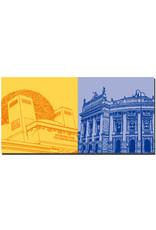 ART-DOMINO® BY SABINE WELZ Wien - Secession + Burgtheater