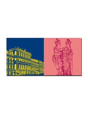 ART-DOMINO® BY SABINE WELZ Wien - Schloss Schönbrunn + Park Schönbrunn