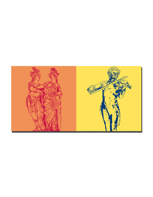ART-DOMINO® BY SABINE WELZ Wien - Park Schönnbrunn + Johann Strauss