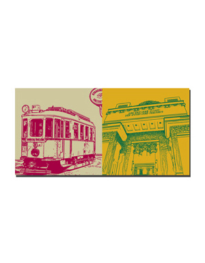 ART-DOMINO® BY SABINE WELZ Wien - Strassenbahn-Sonderzug + Secession