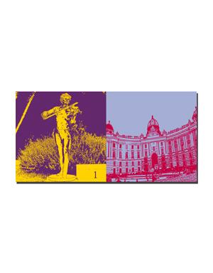 ART-DOMINO® BY SABINE WELZ Wien - Johann Strauss + Hofburg