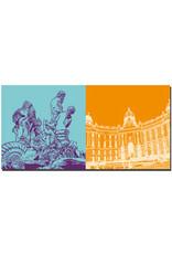 ART-DOMINO® BY SABINE WELZ Wien - Neptunbrunnen + Hofburg