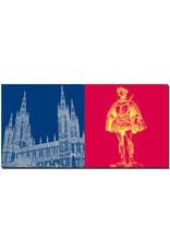 ART-DOMINO® BY SABINE WELZ Wiesbaden - Marktkirche + Schweiger Wilhelm von Oranien