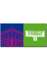 ART-DOMINO® BY SABINE WELZ Wiesbaden - Hessischer Landtag + Schild Schlossplatz