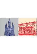 ART-DOMINO® BY SABINE WELZ Wiesbaden - Marktkirche Eingang + Neues Rathaus