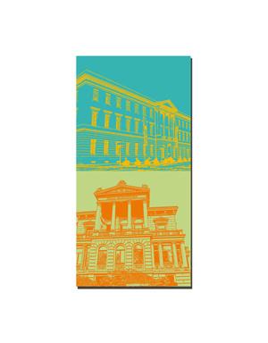 ART-DOMINO® BY SABINE WELZ Wiesbaden - IHK-Erbprinzenpalais + Literaturhaus-Villa Clementine