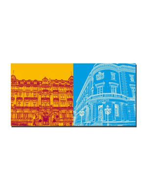 ART-DOMINO® BY SABINE WELZ Wiesbaden - Hessische Staatskanzlei + Hessischer Landtag / Stadtschloss