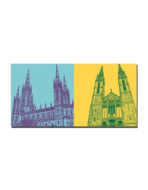 ART-DOMINO® BY SABINE WELZ Wiesbaden - Marktkirche + Marktkirche Eingang