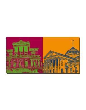 ART-DOMINO® BY SABINE WELZ Wiesbaden - Literaturhaus-Villa Clementine + Kurhaus Casino