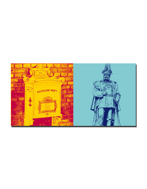 ART-DOMINO® BY SABINE WELZ Wilhelmshaven - Briefkasten Kaiserzeit + Kaiser-Wihelm-Denkmal
