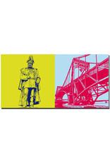ART-DOMINO® BY SABINE WELZ Wilhelmshaven - Kaiser-Wihelm-Denkmal + Kaiser-Wilhelm-Brücke