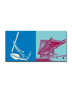 ART-DOMINO® BY SABINE WELZ Wilhelmshaven - Anker + Kaiser-Wilhelm-Brücke