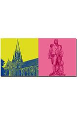 ART-DOMINO® BY SABINE WELZ Wilhelmshaven - Christus- und Garnisonskirche + Prinz-Adalbert-von-Preussen