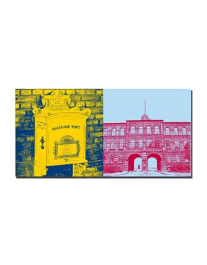 ART-DOMINO® BY SABINE WELZ Wilhelmshaven - Briefkasten Kaiserzeit + Marinearsenal