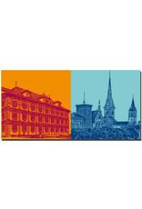 ART-DOMINO® BY SABINE WELZ Zürich - Rathaus + Limmat-Blick