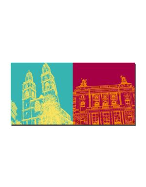 ART-DOMINO® BY SABINE WELZ Zürich - Großmünster + Oper