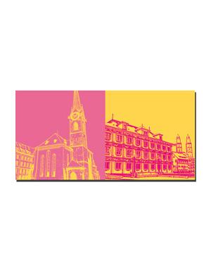 ART-DOMINO® BY SABINE WELZ Zürich - Frauenmünster + Rathaus