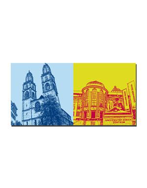 ART-DOMINO® BY SABINE WELZ Zürich - Großmünster + Universität
