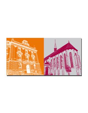 ART-DOMINO® BY SABINE WELZ Bern - Stadttheater + Französische Kirche