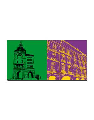 ART-DOMINO® BY SABINE WELZ Bern - Käfigturm + Einsteinhaus