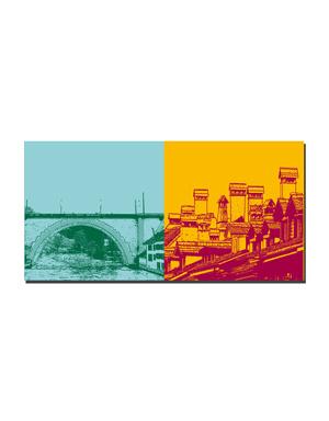 ART-DOMINO® BY SABINE WELZ Bern - Nydeggbrücke + Dächer