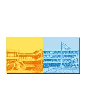 ART-DOMINO® BY SABINE WELZ Bonn - Ehemaliges Kanzleramt + Ehemaliger Bundesrat