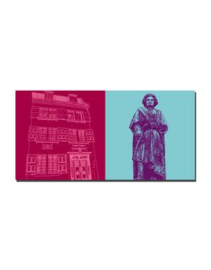 ART-DOMINO® BY SABINE WELZ Bonn - Beethoven-Haus + Beethoven-Denkmal