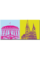 ART-DOMINO® BY SABINE WELZ Bonn - Rathaus + Münster