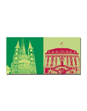 ART-DOMINO® BY SABINE WELZ Bonn - Münster + Rathaus