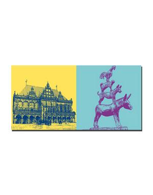 ART-DOMINO® BY SABINE WELZ Bremen - Rathaus + Stadtmusikanten