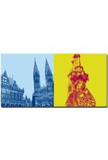 ART-DOMINO® BY SABINE WELZ Bremen - Rathaus und St. Petri Dom + Roland