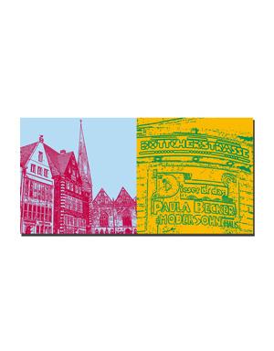 ART-DOMINO® BY SABINE WELZ Bremen - Rathausplatz + Böttcherstrasse
