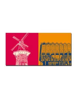 ART-DOMINO® BY SABINE WELZ Bremen - Mühle am Wall + Bremische Bürgschaft