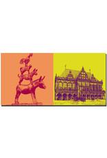ART-DOMINO® BY SABINE WELZ Bremen - Stadtmusikanten + Rathaus