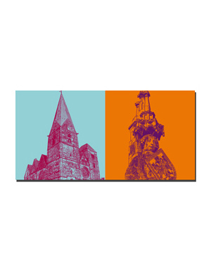 ART-DOMINO® BY SABINE WELZ Bremen - Liebfrauenkirche + Roland