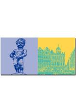 ART-DOMINO® BY SABINE WELZ Brüssel - Manneken Pis + Grand Place