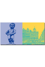 ART-DOMINO® BY SABINE WELZ Bruxelles - Manneken Pis + Grand Place