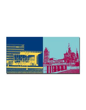 ART-DOMINO® BY SABINE WELZ Darmstadt - Technische Universität + Mathildenhöhe