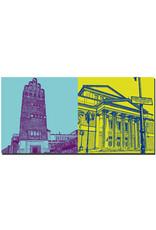 ART-DOMINO® BY SABINE WELZ Darmstadt - Hochzeitsturm + Haus der Geschichte