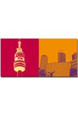 ART-DOMINO® BY SABINE WELZ Dortmund - Florianturm + City Hochhäuser