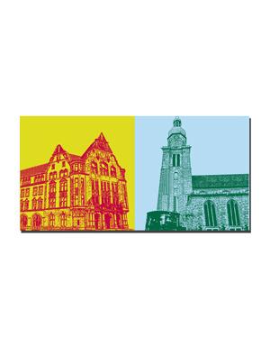 ART-DOMINO® BY SABINE WELZ Dortmund - Friedensplatz + St. Reinoldi