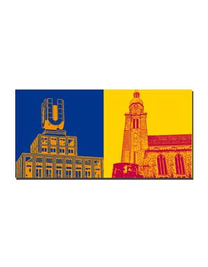 ART-DOMINO® BY SABINE WELZ Dortmund - Dortmunder U + Altes Hafenamt