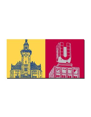 ART-DOMINO® by SABINE WELZ Dortmund - Old Port Authority + Dortmunder U