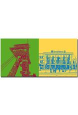 ART-DOMINO® by SABINE WELZ Dortmund - Zeche Zollern + Central station