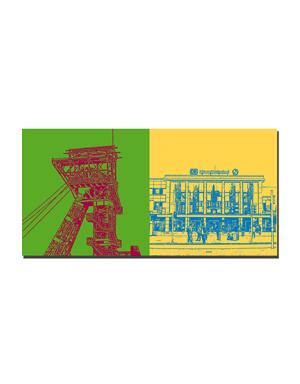 ART-DOMINO® BY SABINE WELZ Dortmund - Zeche Zollern + Hauptbahnhof
