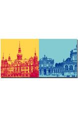 ART-DOMINO® BY SABINE WELZ Dresden - Residenzschloss + Zwinger-Wallpavillon