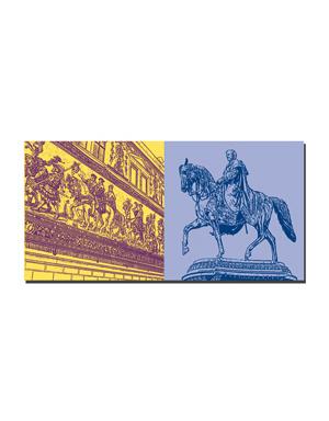 ART-DOMINO® by SABINE WELZ Dresden - Fürstenzug + King Johanns